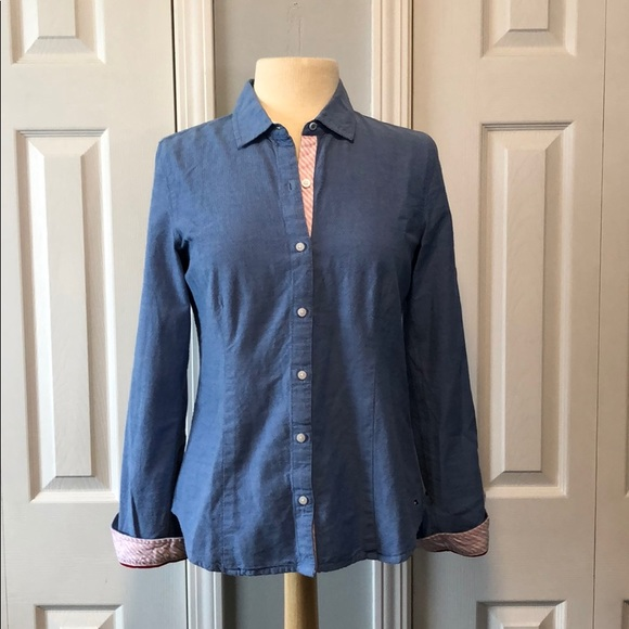 Tommy Hilfiger Tops - Tommy Hilfiger jean button down long sleeve shirt
